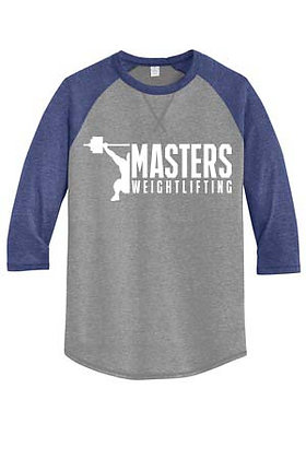 Masters Weightlifting Unisex Baseball Shirt