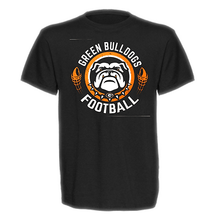 Green Bulldogs Football Design #40 Unisex T-Shirt