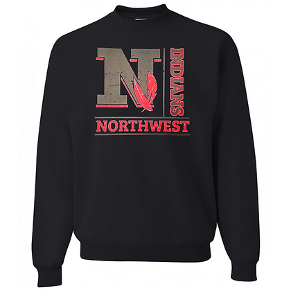 Northwest Indians General Logo #4 Unisex Crew Neck Sweatshirt