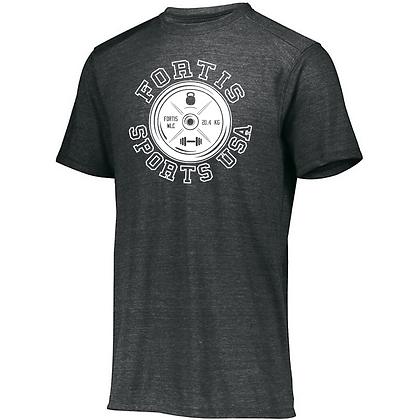 Fortis Sports USA Logo C (White) Unisex Tri-blend T-Shirt