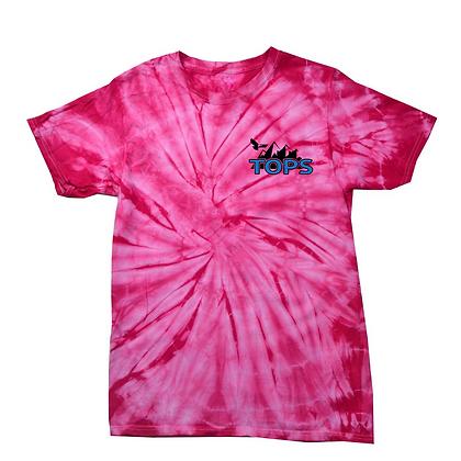 Tops Left Chest Adult Tie-Dye Shirt