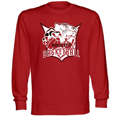 Manchester Panthers Basketball Logo #41 Unisex Long Sleeve T-Shirt