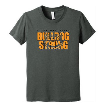 Green Bulldogs Wrestling Logo #8 Unisex Triblend T-Shirt
