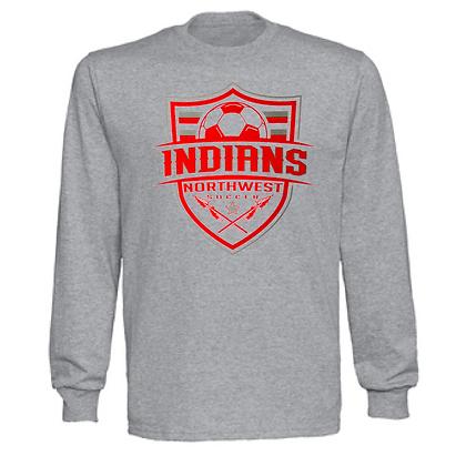 Northwest Indians Soccer Logo #57 Unisex Long Sleeve