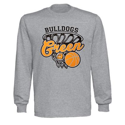 Green Bulldogs Basketball Logo #28 Unisex Long Sleeve T-Shirt