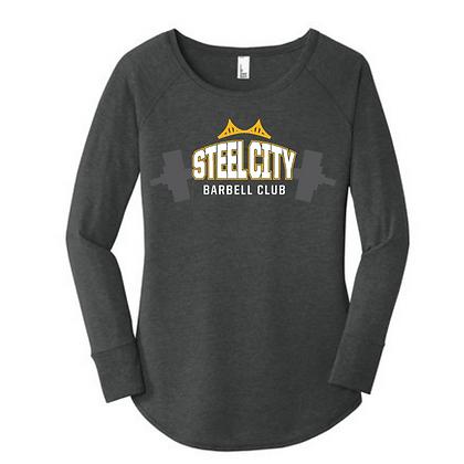Steel City Design #4 Ladies Long Sleeve Triblend