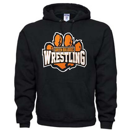 Green Bulldogs Wrestling Logo #59 Unisex Hoodie