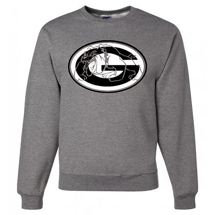 Green Bulldogs General Logo #8 Unisex Crew Neck Sweatshirt