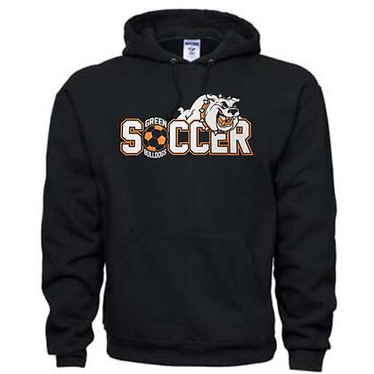 Green Bulldogs Soccer Logo #46 Unisex Hoodie