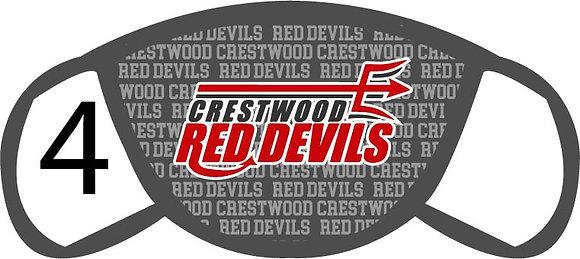 Crestwood Red Devils Face Mask