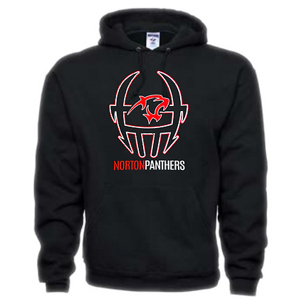 Norton Panthers Football Logo #46 Unisex Hoodie