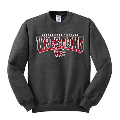 Centerburg Trojans Wrestling Charcoal Unisex Crew Neck Sweater
