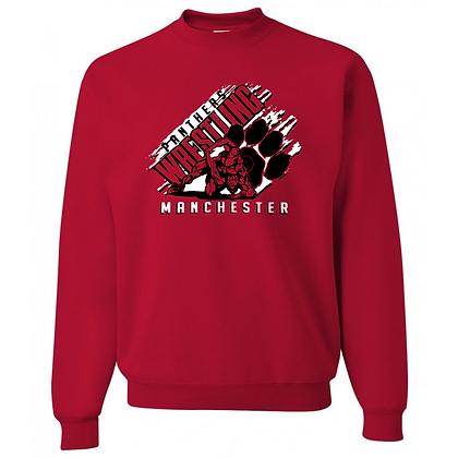 Manchester Panthers Wrestling Logo #87 Unisex Crew Neck Sweater