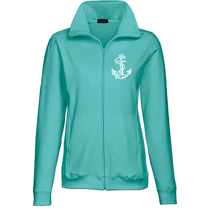 Life Is Better On The Water Ladies Relaxed Fit Full Zip