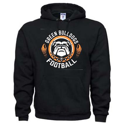 Green Bulldogs Football Logo #40 Unisex Hoodie