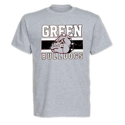 Green Bulldogs General Logo #2 Unisex T-Shirt