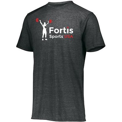Fortis Sports USA (White & Red) Unisex Tri-blend T-Shirt
