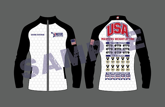 Masters Weightlifting Multi Championship Ladies Jacket With Years