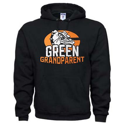 Green Bulldogs Grandparent Logo #10 Unisex Hoodie