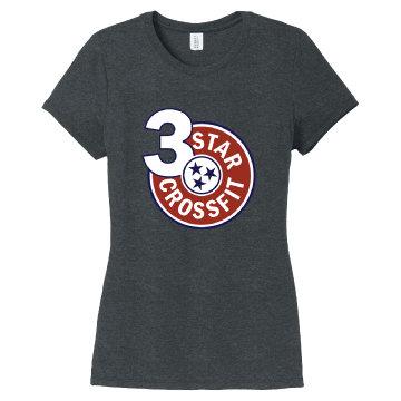 3 Star Crossfit Ladies Short Sleeve Triblend