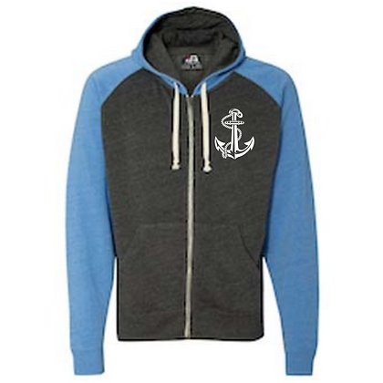 Life Is Better On The Water Tri-blend Color Black Full Zip