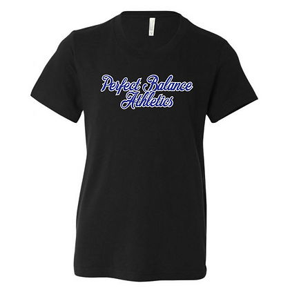 Perfect Balance Athletics Logo (Blue) Youth T-Shirt
