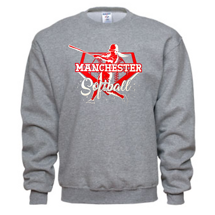 Manchester Panthers Softball Logo #67 Unisex Crew Neck Sweater