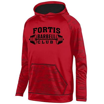 Fortis Weightlifting Barbell Club Logo D (Black) Sleet Hoodie