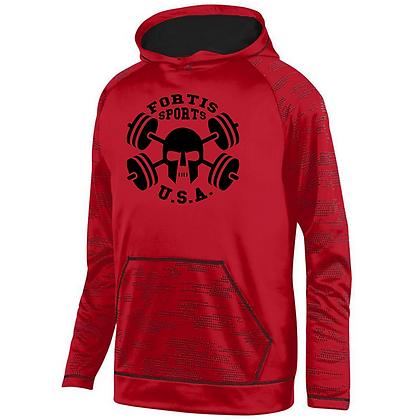 Fortis Sports USA Logo B (Black) Sleet Hoodie