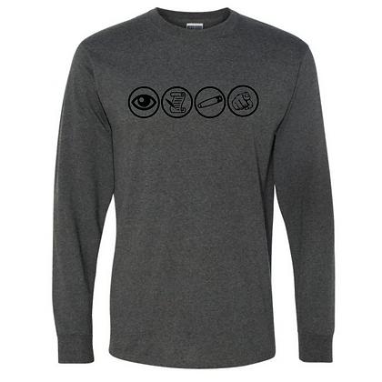 Wrestling Logo #44 Unisex Long Sleeve T-Shirt