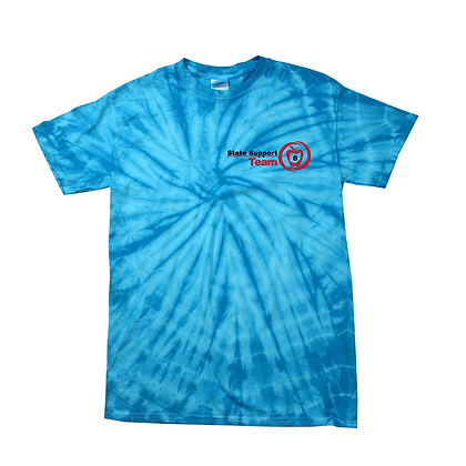 State Support Team Left Chest Adult Tie-Dye Shirt