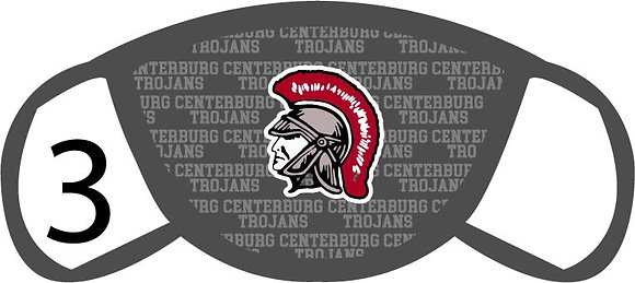 Centerburg Trojans Face Mask