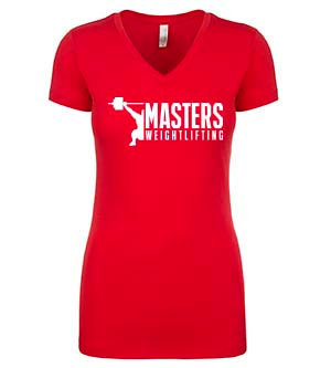 Masters WeightliftingLadies V-Neck Shirt