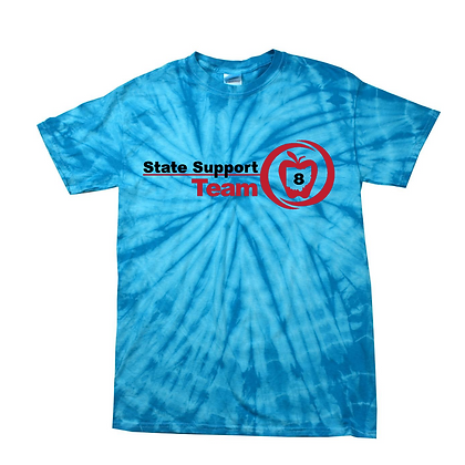 State Support Team Full Front Adult Tie-Dye Shirt