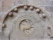Grifo asirio. Monasterio de San Juan de la Peña. Santa Cruz de la Serós. Huesca.