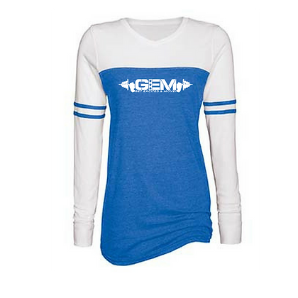 G.E.M. Ladies Enza Varsity Long Sleeve