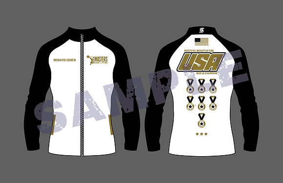 Masters Weightlifting World Unisex Jacket With Years