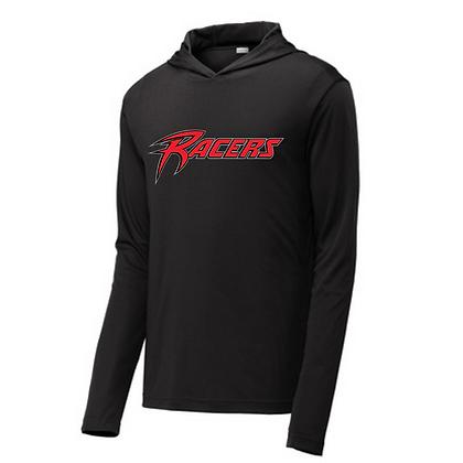 Akron Racers Hooded Performance Long Sleeve Design 1