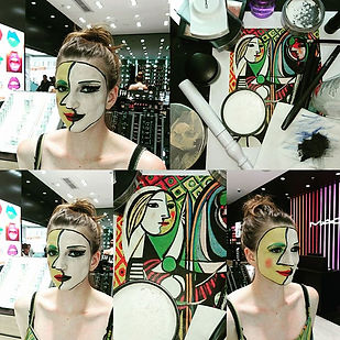 Pablo Picasso 2D painting makeup and ins
