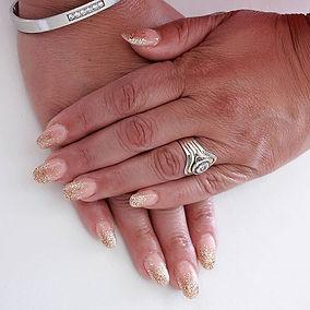 Glitter ombre.. #acrylicnails #acrylicna