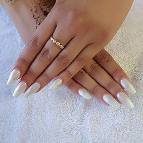 Pearl White Glam Coffin Tips.__#pearl #p