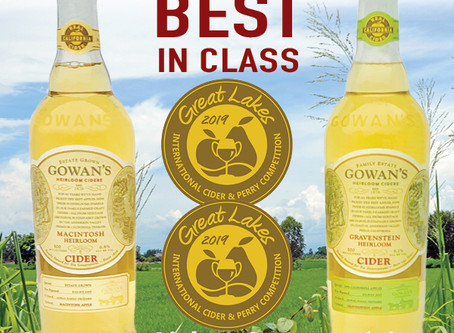 Gowan's Ciders BEST in World's Largest Competition