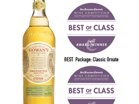 Gravenstein Wins Two Best-in-Class Awards at 2020 San Francisco Chronicle Int'l Wine Competition
