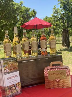 Cider Tasting Flight in the Orchard