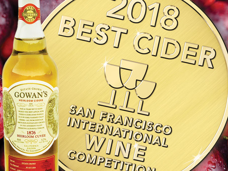 Best Cider Double Gold to Gowan's '1876' Heirloom Cider