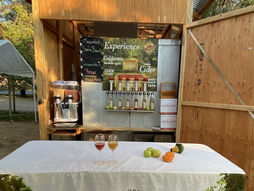 Cider taps in the orchard