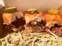 Big Earl BBQ pulled pork sliders