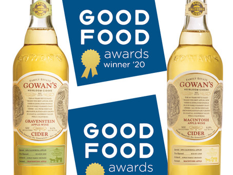 Gowan's Cider's Win Two 2020 Good Food Awards