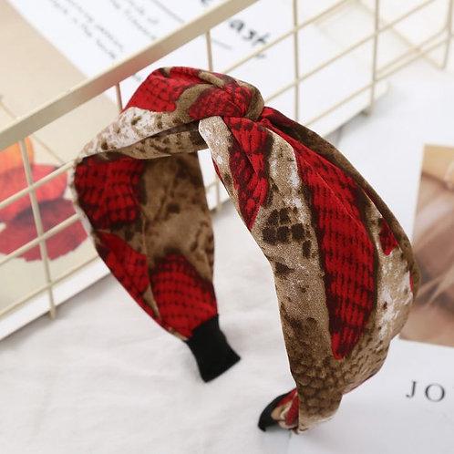 Red Snakeprint headband