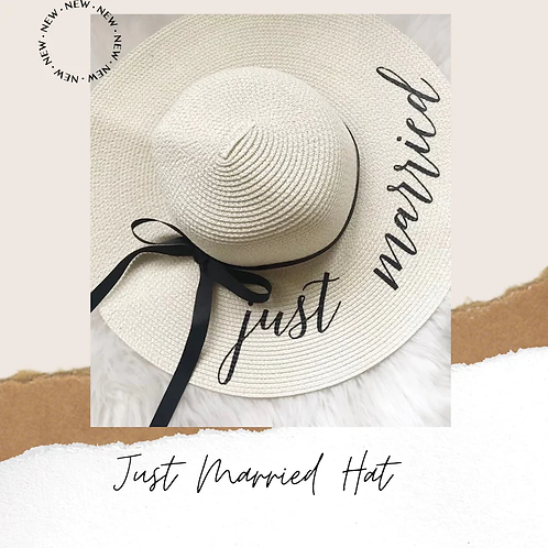 'Just Married' Sun Hat